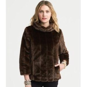 Faux Fur Pullover in Chocolate Brown